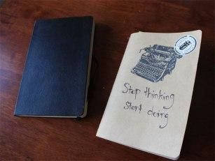 My trusty notebook and Moleskin Journal