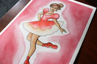Ballerina Ballet Gift for Little Girls 8x12 Print