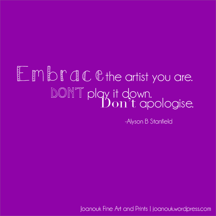 joanouk embrace the artist quote