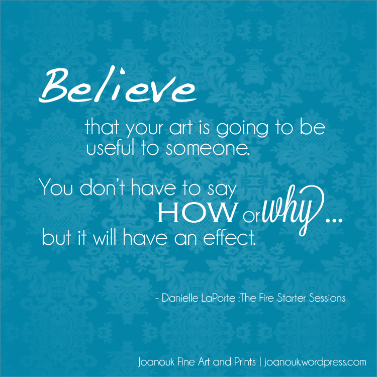 joanouk believe art is useful