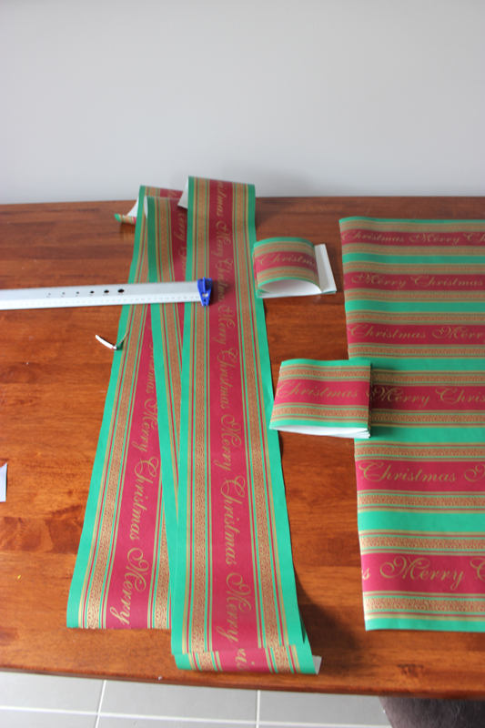wrapping paper strips