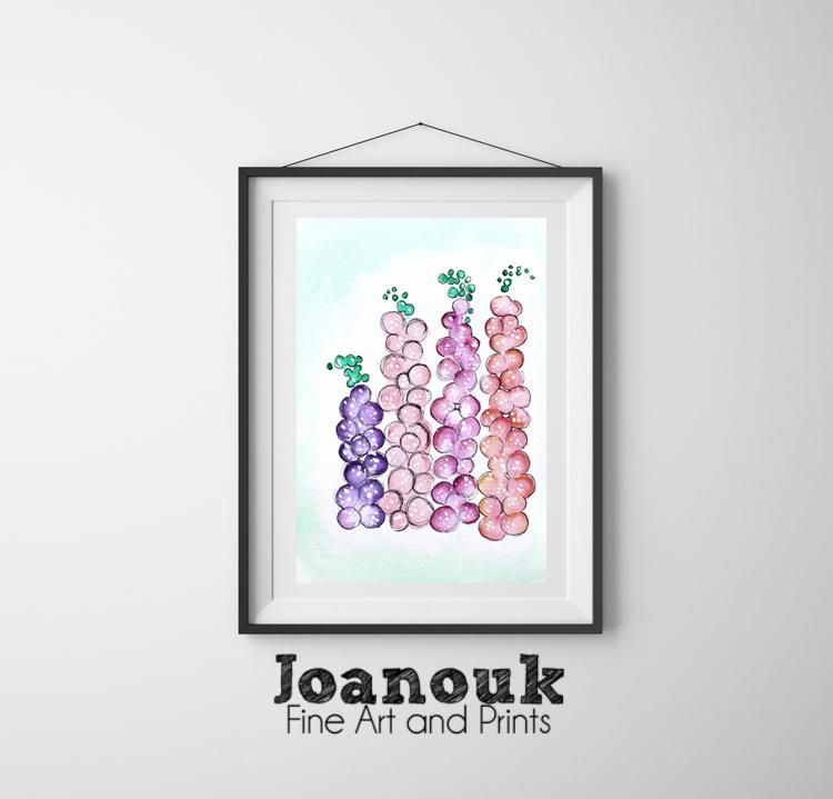 Joanouk Foxgloves Print