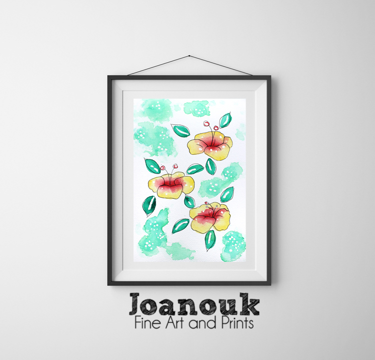 Joanouk Hibiscus Flower Print