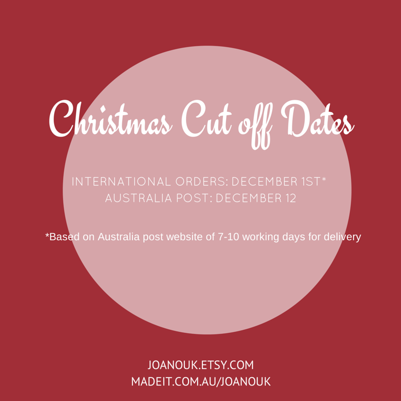 Joanouk Christmas Cutoff Dates 2014