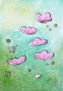 May flowers Watercolour Abstract
