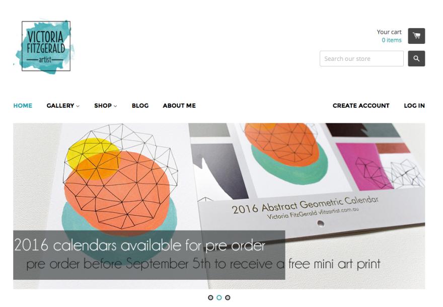 vfitzartist website screen capture august 2015