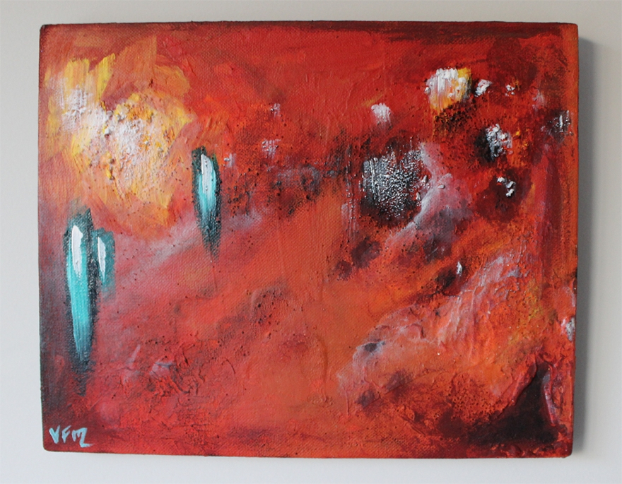 internecine vfitzartist textured abstract acrylic painting 2015 Melbourne Abstract Artist