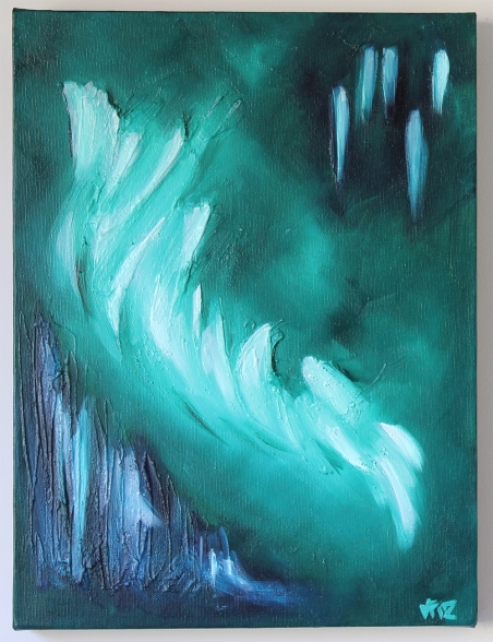 jejune green abstract canvas art