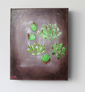 vfitzartist succulents oil on canvas 2014