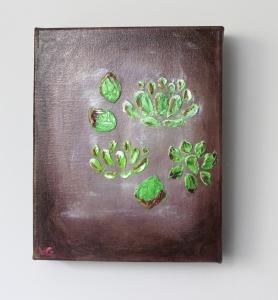 vfitzartist succulents oil on canvas 2014
