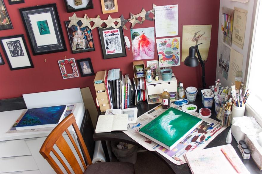 victoria fitzgerald artist studio workspace